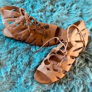 Franco Sarto brown leather sandals